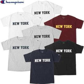 期間限定ポイント[20倍]バック Champion チャンピオン NEW YORK Tシャツ ニューヨーク プリント コットン アメカジ NY メンズ レディース 男女兼用