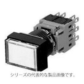 富士電機 AH164-TLR11E3 φ16 照光押しボタンスイッチ 長角平形(□18x24) 閉鎖形 LED DC24V 接点構成1a1b(モメンタリ) 赤