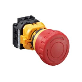 IDEC XW1E-BV411MRH(ブライト系赤) φ22 XWシリーズ 非常停止用押ボタンスイッチ 非照光式 大形ボタン 1a1b ねじ端子形 感電防止カバー付