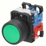 在庫品 富士電機 AR22F0R-10R φ22(φ25) 丸フレーム 押しボタンスイッチ 平形(φ24) 接点構成1a(モメンタリ) 赤
