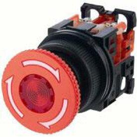 富士電機 AR30V2R-02R φ30 非常停止用押しボタンスイッチ プッシュロック大形φ40 接点構成2b 赤