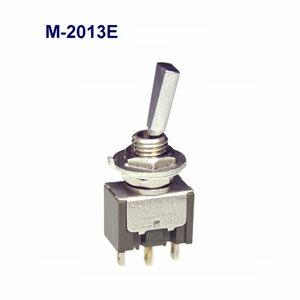 在庫品 NKKスイッチズ M-2013E 単極 機能動作<ON OFF ON>電流容量6A125VAC 日本開閉器 フラットレバー形トグルスイッチ はんだ端子
