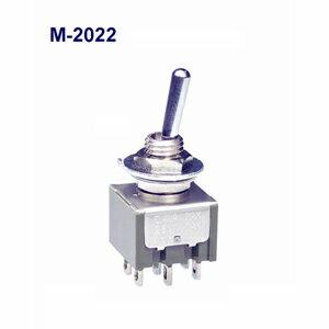 在庫品 NKKスイッチズ M-2022 2極 機能動作<ONーON>電流容量6A125VAC 日本開閉器 基本レバー形トグルスイッチ はんだ端子