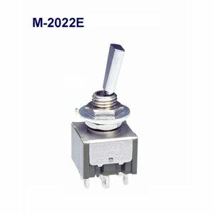 在庫品 NKKスイッチズ M-2022E 2極 機能動作<ONーON> 電流容量6A125VAC日本開閉器 フラットレバー形トグルスイッチ はんだ端子