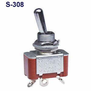 在庫品 NKKスイッチズ S-308 単極双投 端子はんだ 抵抗負荷AC125V15A 規格:CSA取得 日本開閉器 小型トグルスイッチ