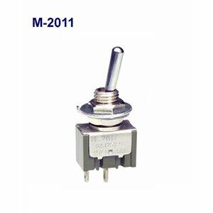 在庫品 NKKスイッチズ M-2011 電流容量6A125VAC 単極 機能動作<ONーOFF>日本開閉器 基本レバー形トグルスイッチはんだ端子形