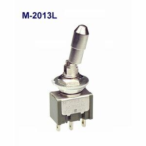 在庫品 NKKスイッチズ M-2013L 単極 機能動作<ON OFF ON>電流容量6A125VAC 日本開閉器 レバーロック形トグルスイッチ はんだ端子