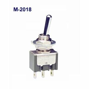 在庫品 NKKスイッチズ M-2018 単極 機能動作<<ON>OFF<ON>> 電流容量6A125VAC日本開閉器 基本レバー形トグルスイッチ はんだ端子