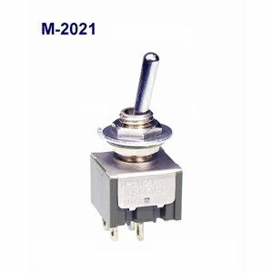 在庫品 NKKスイッチズ M-2021 2極 機能動作<ONーOFF> 電流容量6A125VAC 日本開閉器 基本レバー形トグルスイッチ はんだ端子