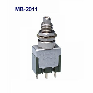在庫品 NKKスイッチズ MB-2011 単極双投 機能動作<ON <ON>>電流容量6A125V AC 日本開閉器 基本形押ボタンスイツチ はんだ端子