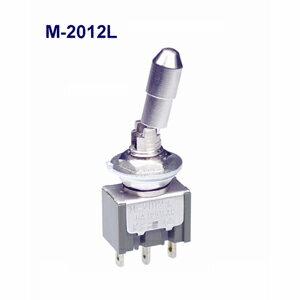 在庫品 NKKスイッチズ M-2012L 単極 機能動作<ONーON> 電流容量6A125VAC 日本開閉器 レバーロック形トグルスイッチ はんだ端子