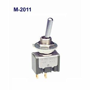 在庫品 NKKスイッチズ M-2011G 単極 機能動作<ONーOFF> 電流容量0.4VA MAX 28VMAX 日本開閉器 基本レバー形トグルスイッチ微小電流用
