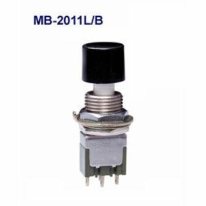 在庫品 NKKスイッチズ MB-2011L/B 単極双投 機能動作<ON<ON>>電流容量6A 125V AC AC 日本開閉器 ラージブッシング形押ボタンスイッチ はんだ端子