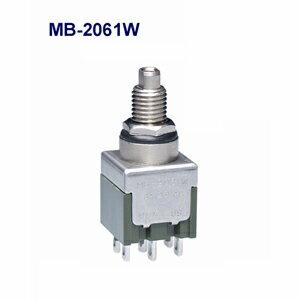 在庫品 NKKスイッチズ MB-2061W 2極双投 電流容量6A125V AC 日本開閉器 防水形基本形押ボタンスイッチ(IP67適合)はんだ端子