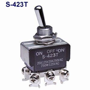在庫品 NKKスイッチズ S-423T 2極双投 端子ねじ 抵抗負荷125V20A 日本開閉器 小型トグルスイッチ