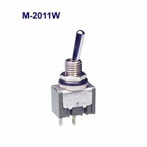 在庫品 NKKスイッチズ M-2011W 単極 機能動作<ONーOFF> 電流容量6A125VAC 日本開閉器 防水形トグルスイッチ はんだ端子