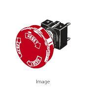 在庫品 オムロン A165E-S-01 非常停止用押ボタンスイッチφ16 プッシュロックターンリセット 操作部赤色φ30 矢印文字白 接点構成1b はんだづけ端子