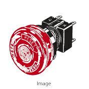 在庫品 オムロン A165E-LS-24D-02 非常停止用押ボタンスイッチ(φ16) 操作部赤色φ30 プッシュロックターンリセット 接点構成2b はんだづけ端子
