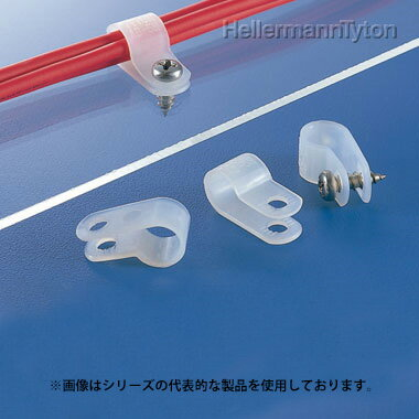 在庫品 AB-16N ヘラマンタイトン ナイロンクリップ 固定時内径 24.5mm M5ネジ 乳白色 100 入り
