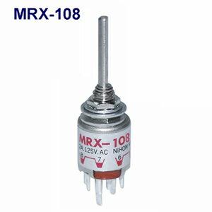 在庫品 NKKイッチズ MRX-108 端子はんだ 1回路2〜8接点 電流容量AC125V2A 切替角度45° 日本開閉器 超小型ロータリスイッチ