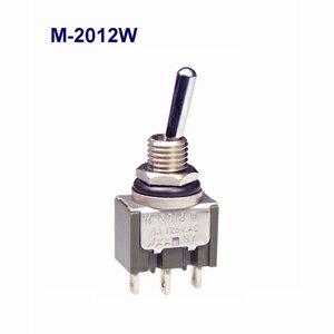 在庫品 NKKスイッチズ M-2012W 単極 機能動作<ONーON>電流容量6A125VAC 日本開閉器 防水形トグルスイッチ(IP67適合)はんだ端子