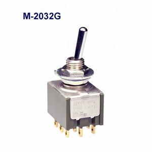 在庫品 NKKスイッチズ M−2032G 3極 双投機能動作<ONーON>電流容量0.4VA MAX 28V MAX 日本開閉器 基本レバー形トグルスイッチ 微小電流用 はんだ端子