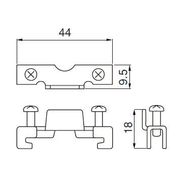 在庫品 MF-THE キムラ電機 DINレール 端末金具