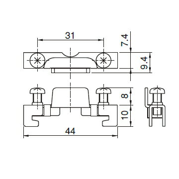 在庫品 MF-THC キムラ電機 DINレール 端末金具