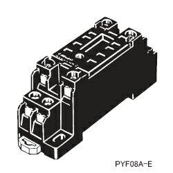 在庫品 オムロン PYF08A-E MY2用 表面接続ソケット 8ピン M3ネジ端子台 (フィンガープロテクト構造)
