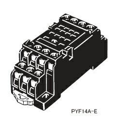 在庫品 オムロン PYF14A-E MY4用 表面接続ソケット 14ピン M3ネジ端子台 (フィンガープロテクト構造)