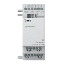 IDEC FL1F-M08D2R2 FL1F形スマートリレー増設IOモジュール AC/DC24V リレー出力 入力4点/出力4点 DINレール取付