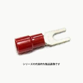 ニチフ TMEX 1.25Y-3-RED(赤)(100PCS) 銅線用 環境配慮形絶縁被服付圧着端子 (Y形)先開形