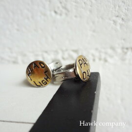 【メール便OK】HawkCompany【ホークカンパニー】真鍮アンティークボタンモチーフリング【7611】
