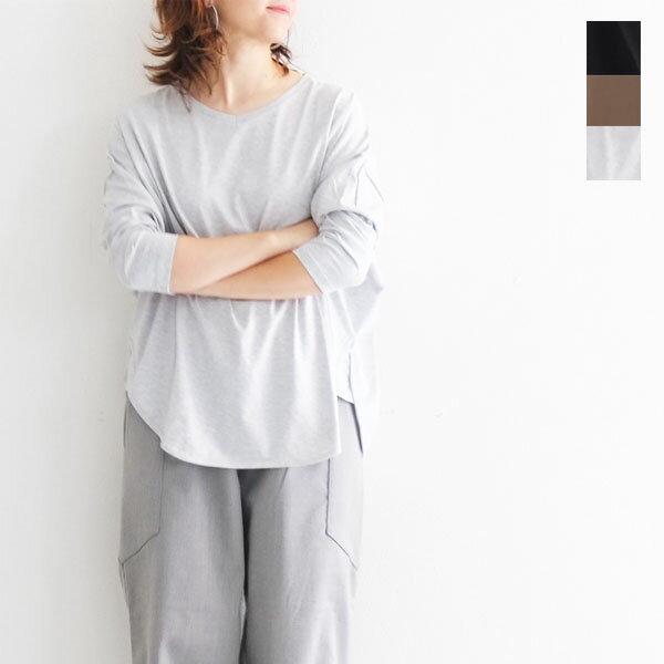 【送料無料】2018 new Bagsy バグジー Vネック 裾ラウンドカットソー デイリー シーズンレス