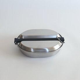 amabro MESS KIT PAN (Round) Steel ステンレス メスキットパン クッカー アウトドア ソロキャンプ 調理器具 フライパン