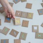 douABCstamp木のおもちゃアルファベット知育玩具おしゃれ木製出産祝い男の子女の子