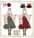 大きいサイズ LL ワンピース ミディアム丈 和装 和柄 和洋折衷 *Favoriteオリジナル*毬とお花の和袖ワンピース【202…