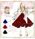 ワンピース ミディアム丈 巫女 *Favoriteオリジナル*紺・赤・黒カラーの巫女さんデザインワンピース【2020年1月新作…
