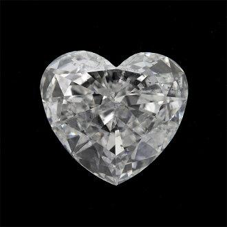 With the laboratory of 1.0 carats diamond Ruth (nude stone) 1.167ct E SI-2 heart shape center treasure appraisal (the fluorescence: FAINT)