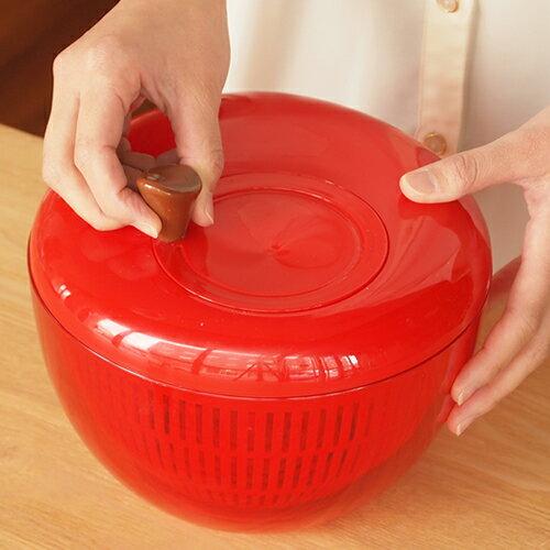 サラダスピナー アップルサラダスピナー りんご 野菜水切り器 2〜3人用 K333