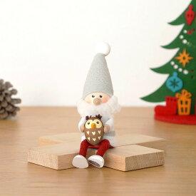 ノルディカニッセ フクロウを抱えたサンタ サイレントナイトシリーズ NORDIKA nisse クリスマス 雑貨 木製 人形 北欧 NRD120610