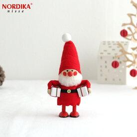 ノルディカニッセ 欲張りサンタ フェルトシリーズ 赤 NORDIKA nisse クリスマス 雑貨 木製 人形 北欧 NRD120074