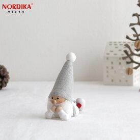ノルディカニッセ 寝転がるサンタ サイレントナイトシリーズ NORDIKA nisse クリスマス 雑貨 木製 人形 北欧 NRD120609