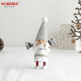 ノルディカニッセ スカーフサンタ サイレントナイトシリーズ NORDIKA nisse クリスマス 雑貨 木製 人形 北欧 NRD120636