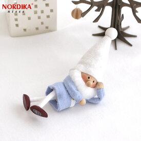 【10月中旬入荷予定 ご予約受付中】 ノルディカニッセ 2021 ひとやすみサンタ 星に願いを シリーズ NORDIKA nisse クリスマス 雑貨 木製 人形 北欧 NRD120676