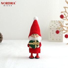 【10月中旬入荷予定 ご予約受付中】 ノルディカニッセ 2021 ハートフルサンタ グリーン×ゴールド ハートフルシリーズ NORDIKA nisse クリスマス 雑貨 木製 人形 北欧 NRD120684