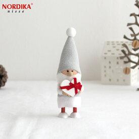 【11月上旬~中旬入荷予定】 ノルディカニッセ 2021 ハートフルサンタ サイレントナイト ホワイト×レッド ハートフルシリーズ NORDIKA nisse クリスマス 雑貨 木製 人形 北欧 NRD120686