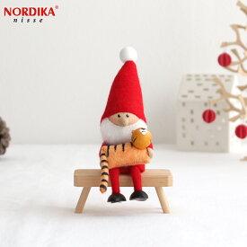 【10月中旬入荷予定 ご予約受付中】 ノルディカニッセ 2021 トラを抱えたサンタ 干支 フェルトシリーズ 赤 NORDIKA nisse クリスマス 雑貨 木製 人形 北欧 NRD120688