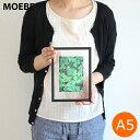 【割引クーポン配布中】MOEBE ムーベ フォトフレーム FRAME A5 アクリル板 額縁 写真立て 木製 壁かけ オーク ブラック ホワイト