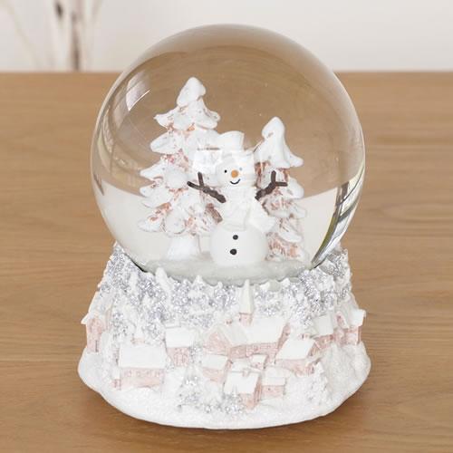 クリスマス スノーボール スノードーム スノーマン オルゴール クリスマス雑貨 16724